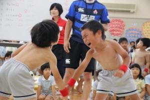 『育め!勇気』レスリング大会