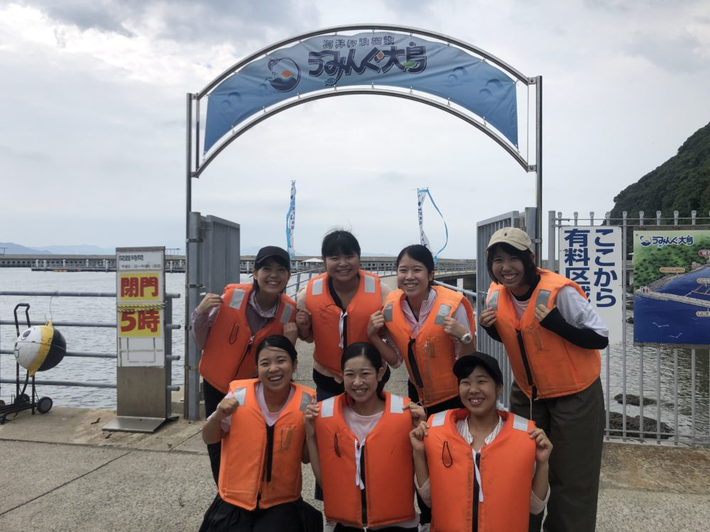 Let's fishing in大島☆(久峩・眞子・前原)