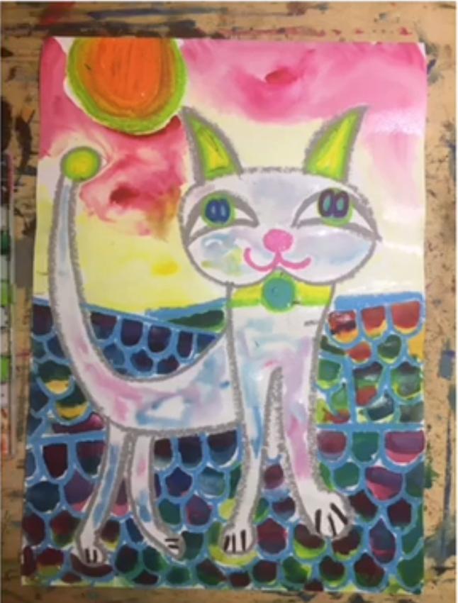 Kei先生のお絵描き講座~屋根の上の猫ちゃん~