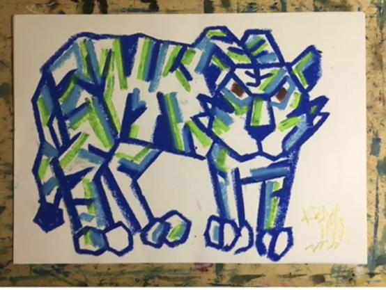 カクカクの『青い虎』~kei先生のお絵描き動画~